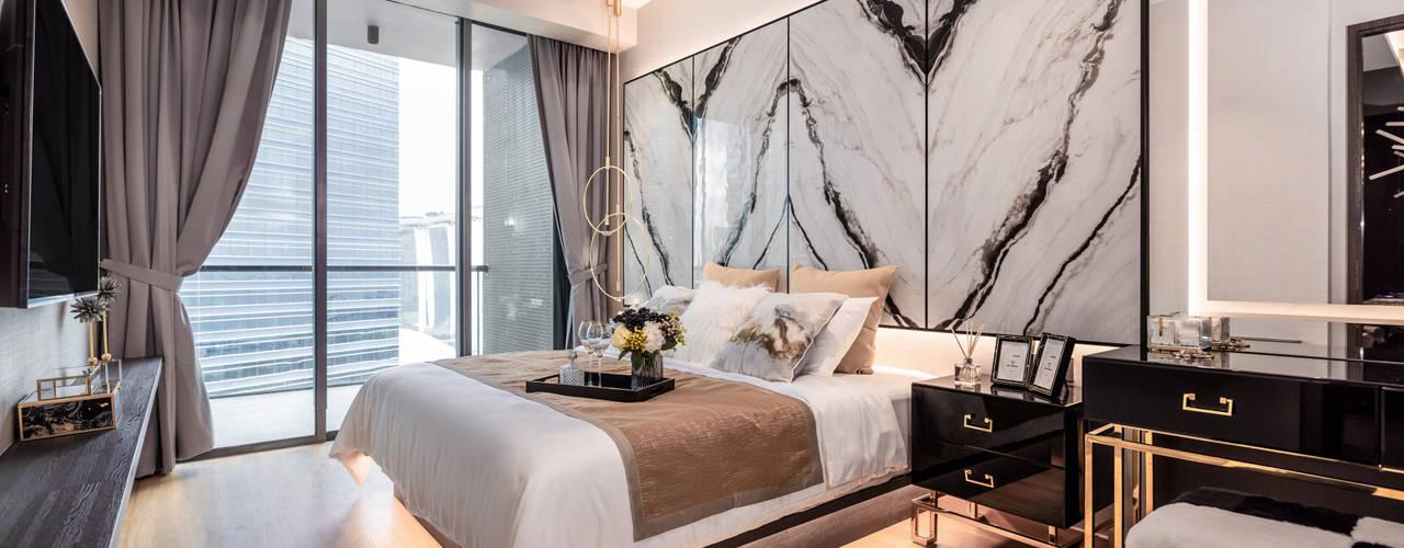 Mr Shopper Studio Pte Ltd Modern style bedroom Marble White