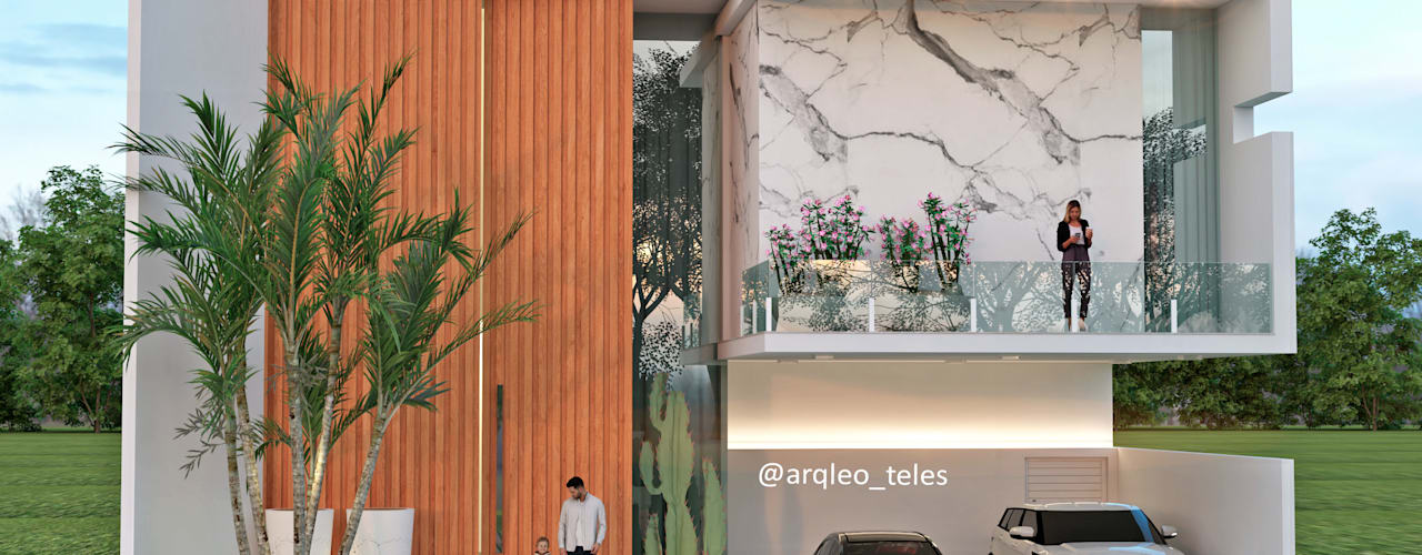 Residências de alto padrão Leo Teles Arquitetura e Interiores Condomínios