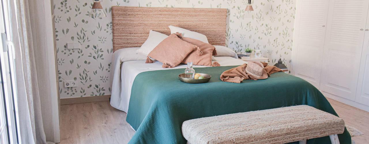 Reforma habitaciones Interiorismo Laura Mas Dormitorios de estilo mediterráneo Verde