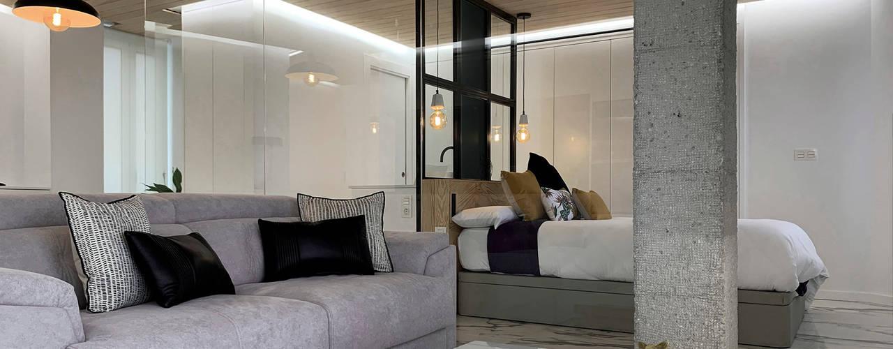 DISENA studio - Diseño Loft DISENA studio Salones de estilo minimalista
