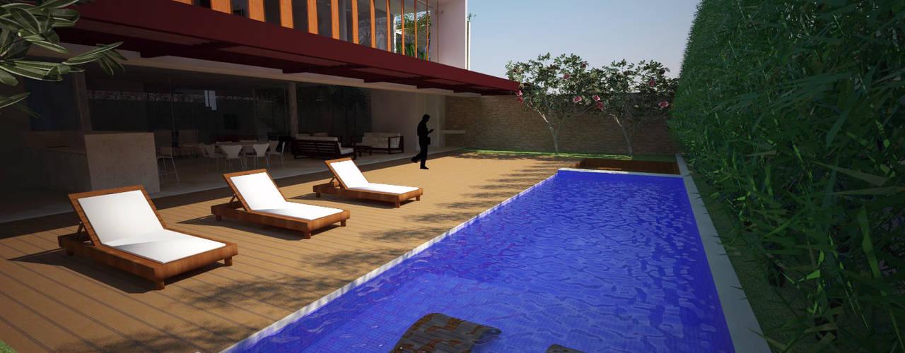Tirar férias na própria casa Carmela Design Piscinas de jardim