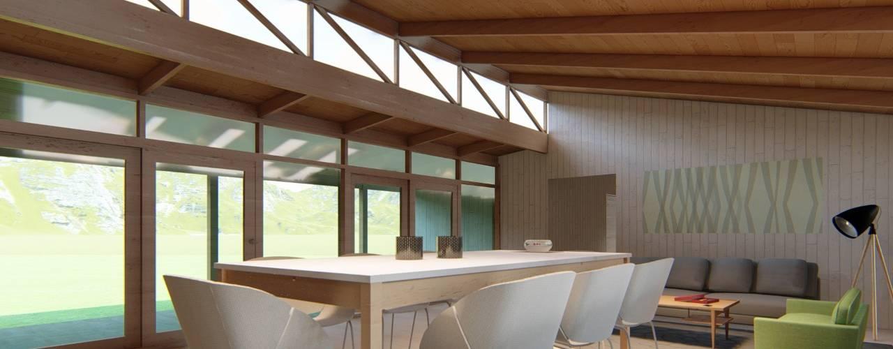 Vivienda Puerto Montt J-O Roberto Martinez Bravari -arquitectos asociados Livings de estilo Madera Acabado en madera