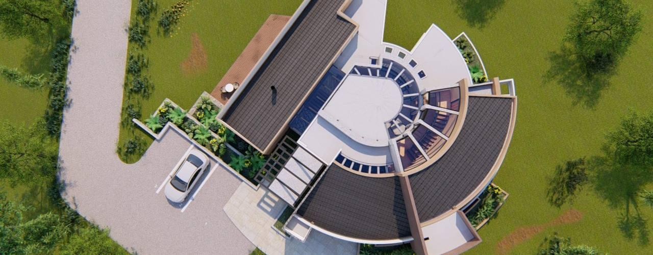 Diseño de una Casa en Sopó - Cundinamarca CONCEPTUAL ESTUDIO + ARQUITECTURA SAS Techos