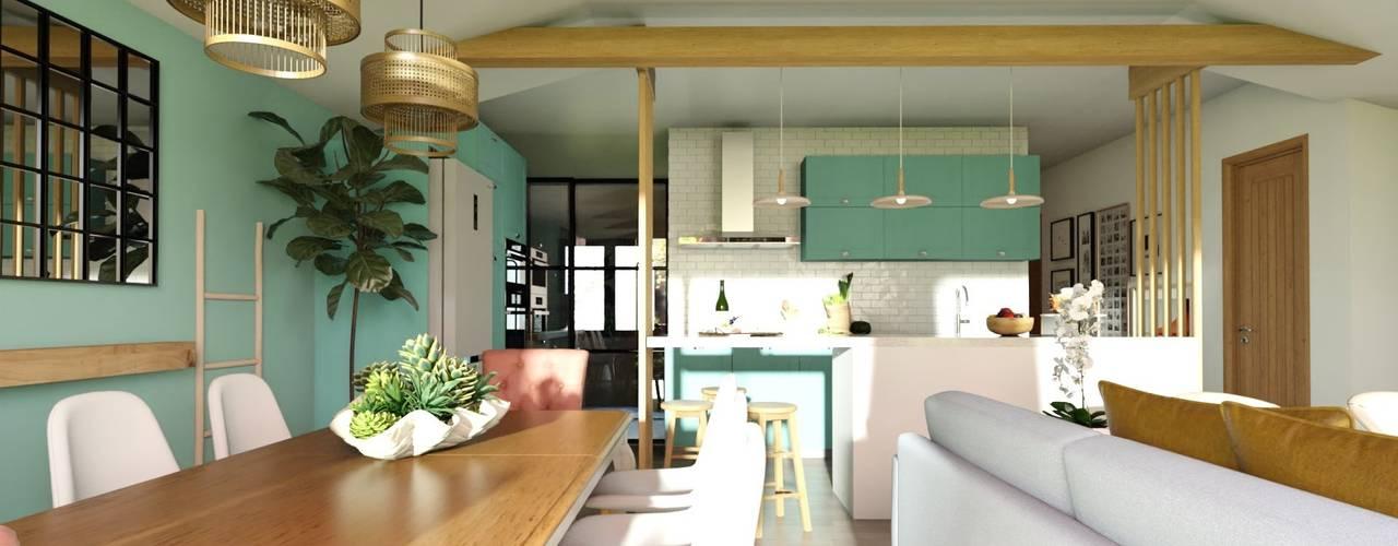 Proyecto - Vallenar Gabi's Home Comedores de estilo clásico Turquesa