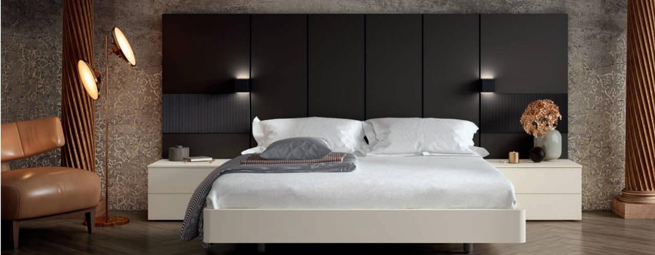 DORMITORIOS URBANOS CON ESTILO BORONIA HOME Dormitorios de estilo moderno Tablero DM Blanco