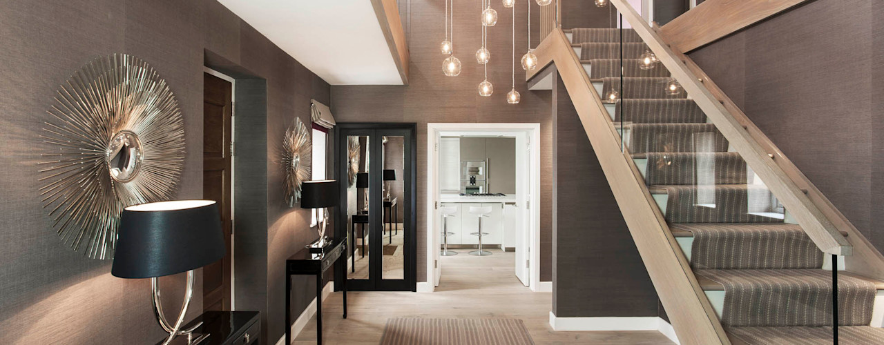 Entrance Hall Studio Hooton Modern corridor, hallway & stairs