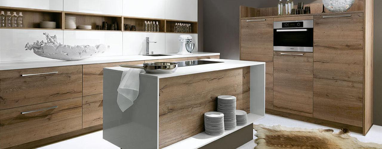 Luce / Porto Woodline - Bianco / Chene Pastis Schott Cuisines