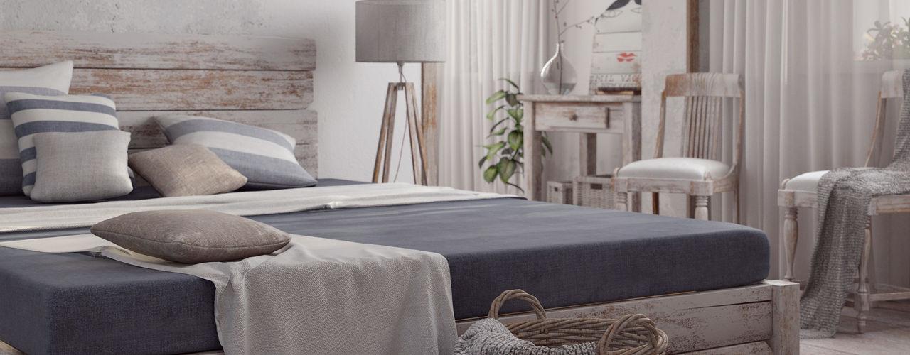 Villa Vittoni - Camera da Letto Vittorio Bonapace 3D Artist and Interior Designer Camera da letto in stile rustico