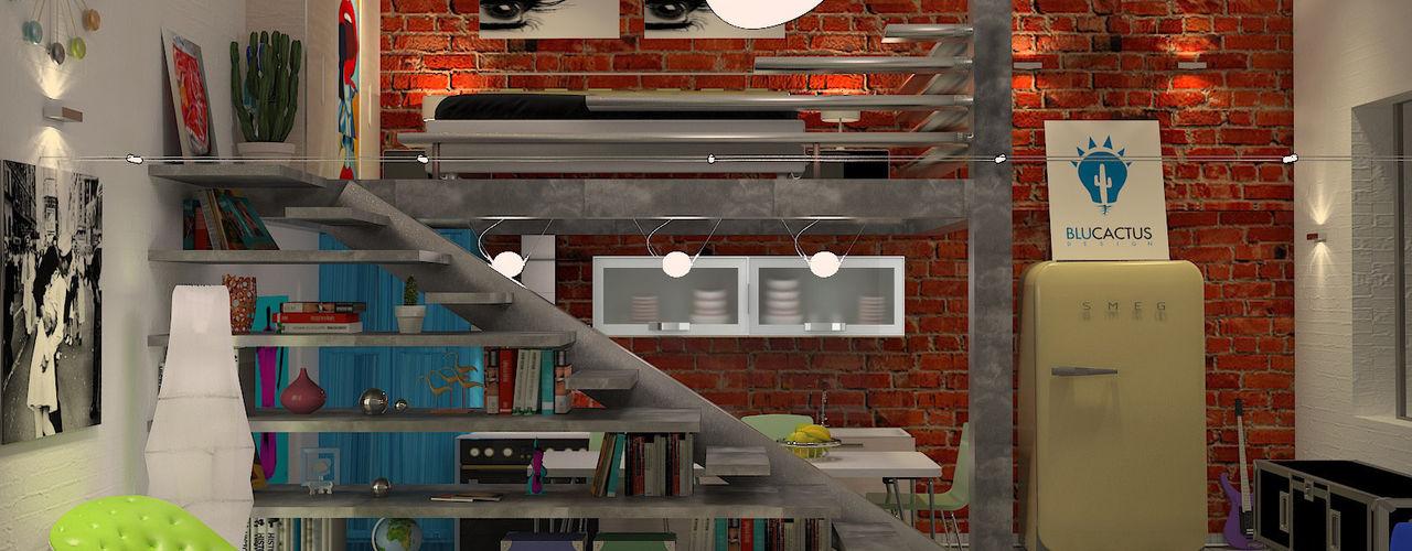 blucactus design Studio Casas de estilo ecléctico