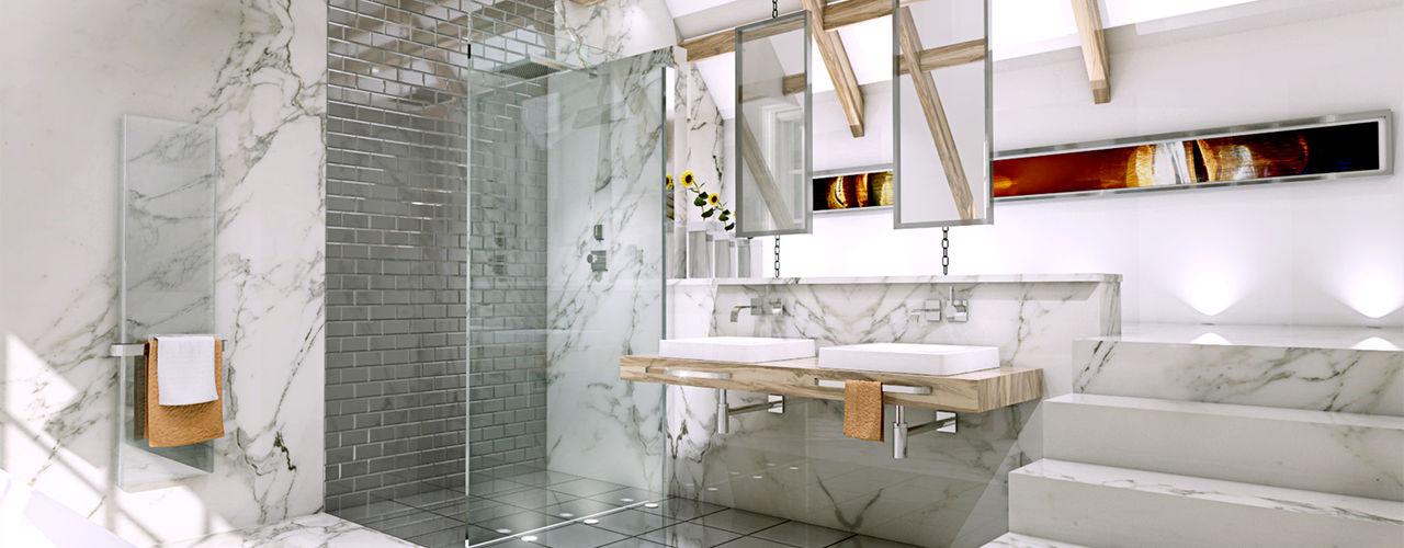 Loft bathroom homify Baños de estilo moderno