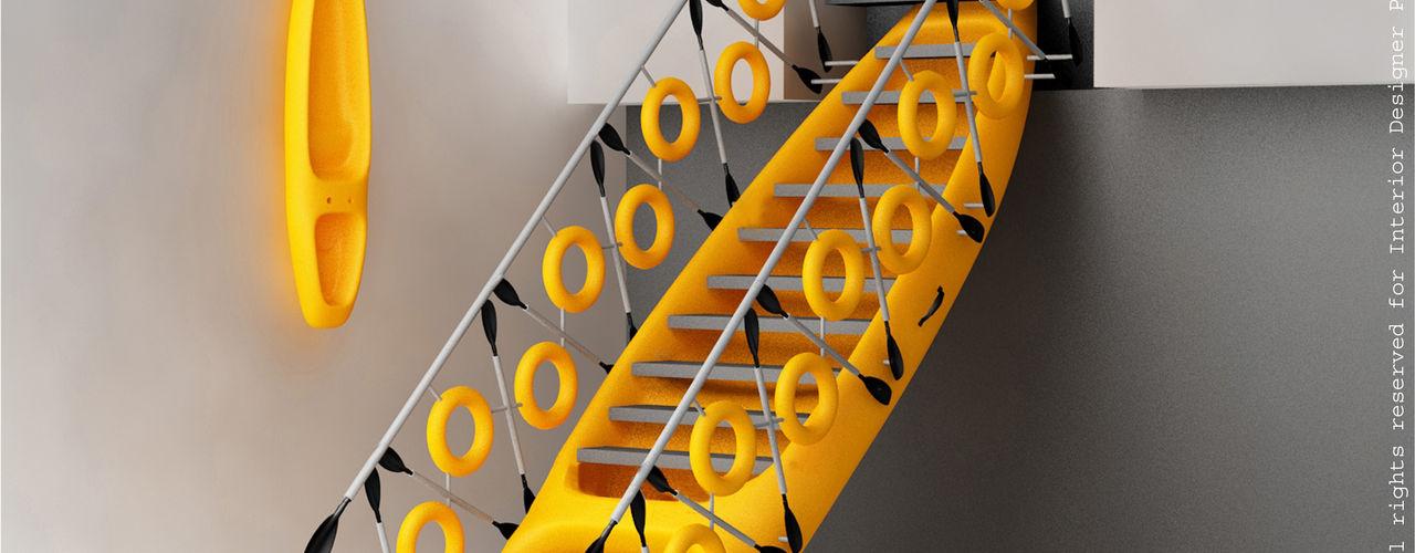 Kayak staircase Preetham Interior Designer Modern corridor, hallway & stairs