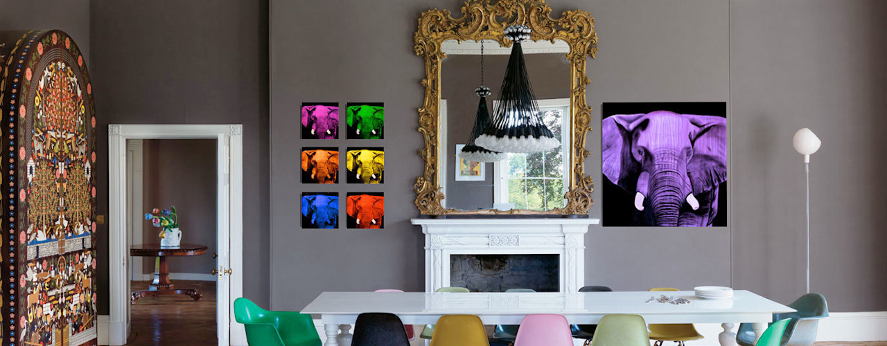 Home In-situ animal paintings Thierry Bisch - Peintre animalier - Animal Painter Dining room