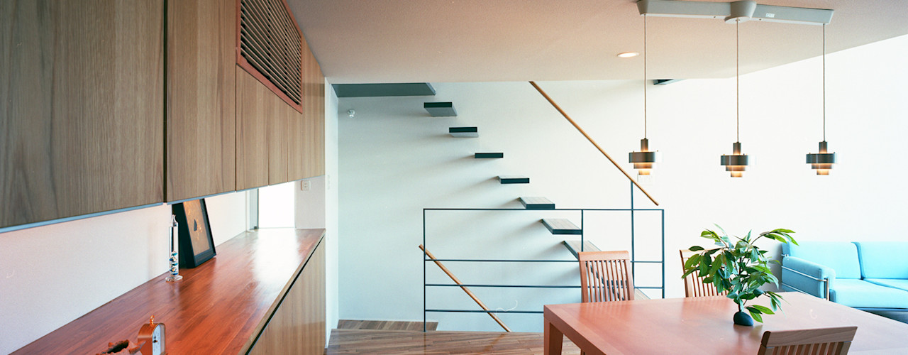 スキップテラスの家 西島正樹/プライム一級建築士事務所 オリジナルデザインの ダイニング