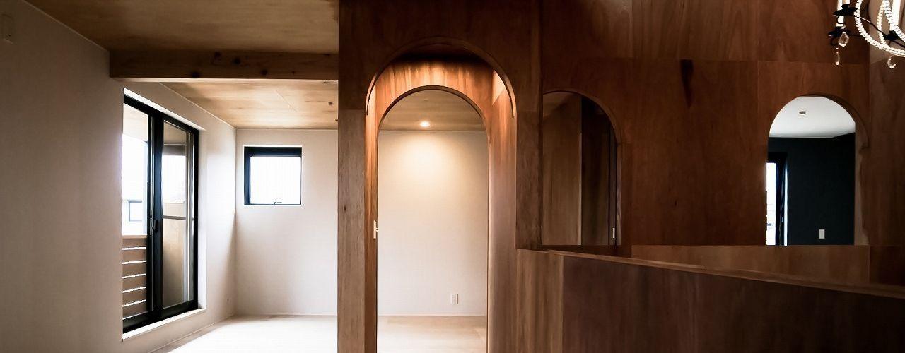 Ik-house AtelierorB ラスティックデザインの 子供部屋
