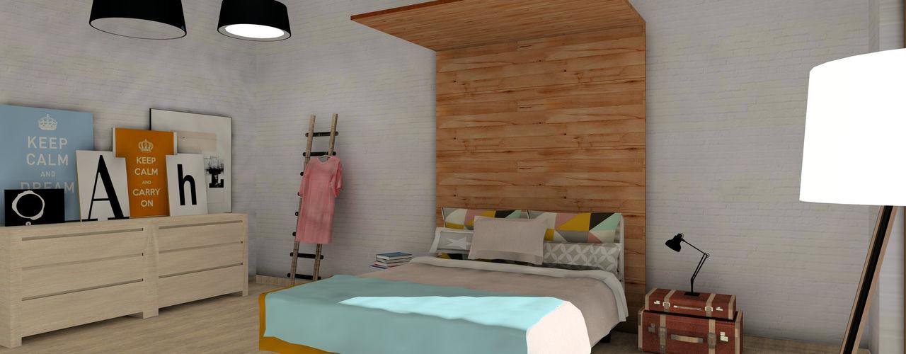 A|H Decoración e interiorismo Cuartos de estilo escandinavo