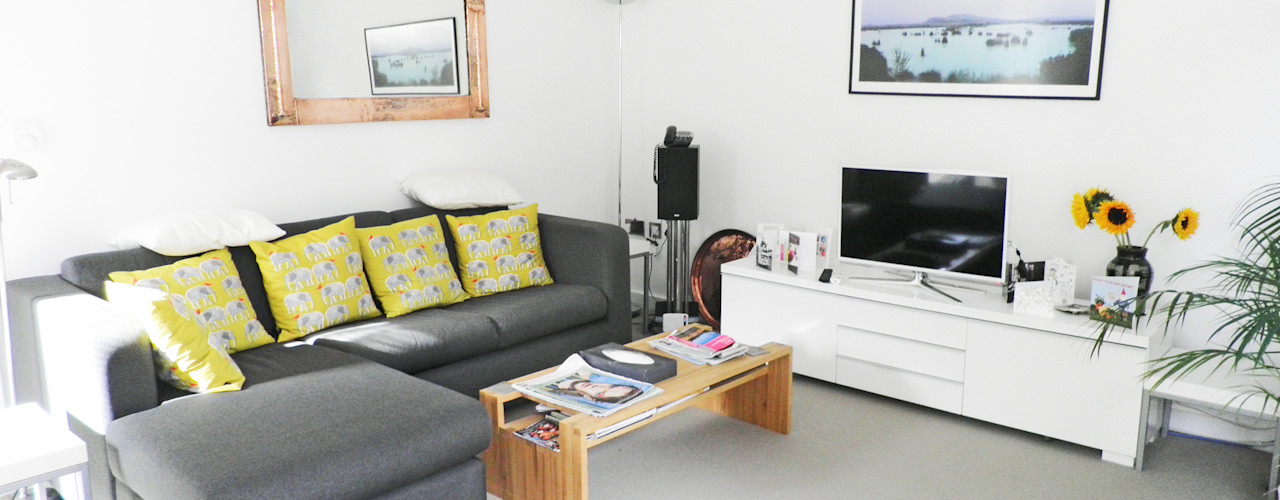 Midsummer House Hinton Cook Architects Modern living room