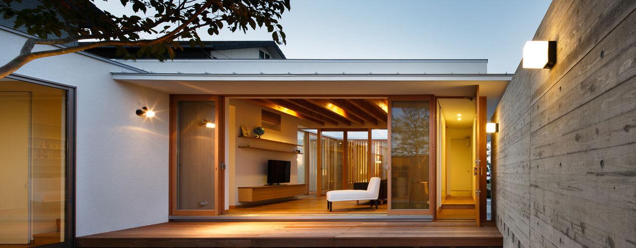 HOUSE IN HAMAMATSU 窪江建築設計事務所 アジア風 庭
