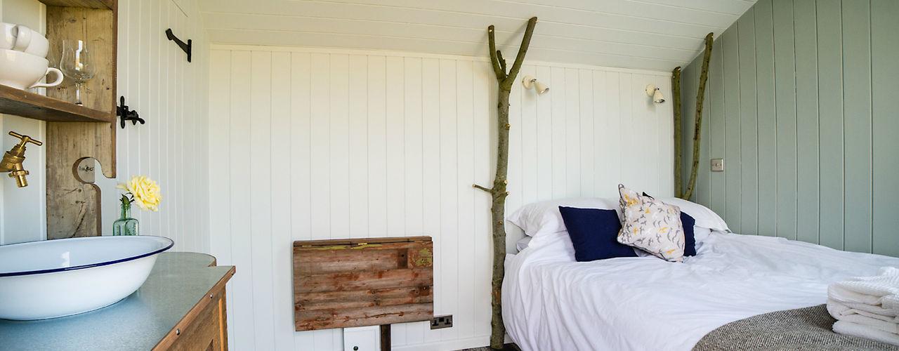 Huts Plankbridge Landelijke slaapkamers