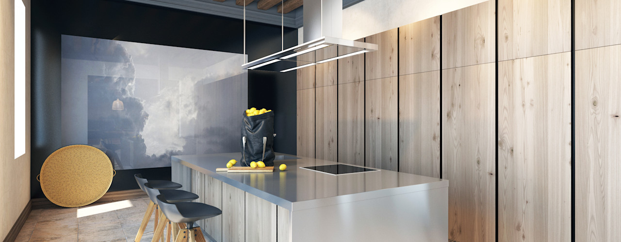 Pfayfer Fradina Design 北欧デザインの キッチン
