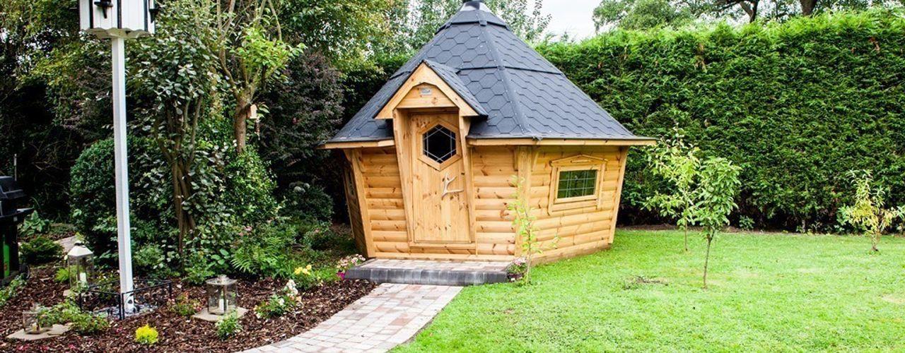 A medium barbecue cabin. Arctic Cabins Scandinavian style garden