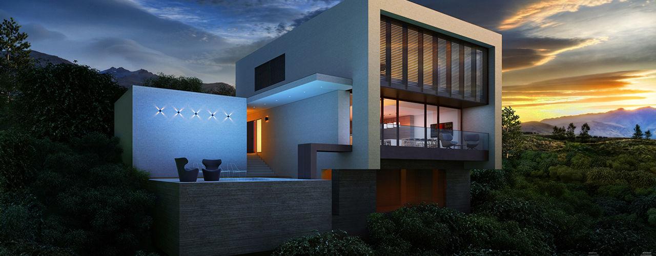 ALEXANDER ZHIDKOV ARCHITECT Casas de estilo minimalista