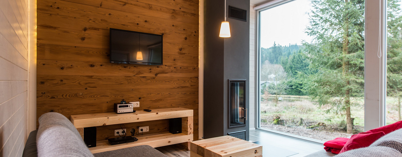 Ferienhaus Lichtung Ferienhaus Lichtung im grünen Herzen Deutschland Skandinavische Wohnzimmer