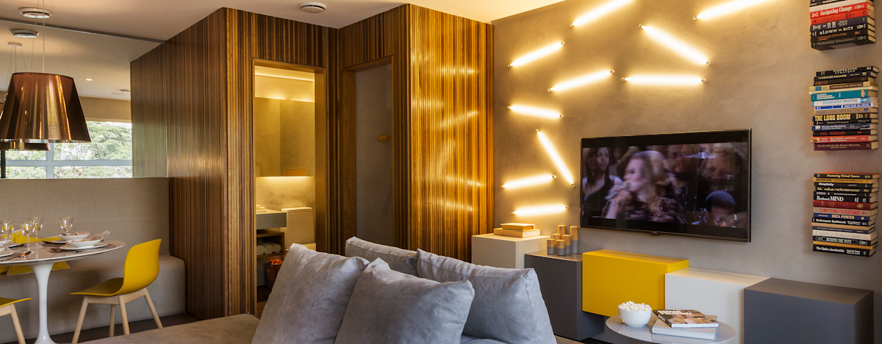 Studiodwg Arquitetura e Interiores Ltda. Soggiorno minimalista