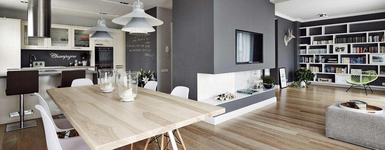 Apartament w Krakowie o powierzchni 113 m AvoCADo Skandynawska jadalnia