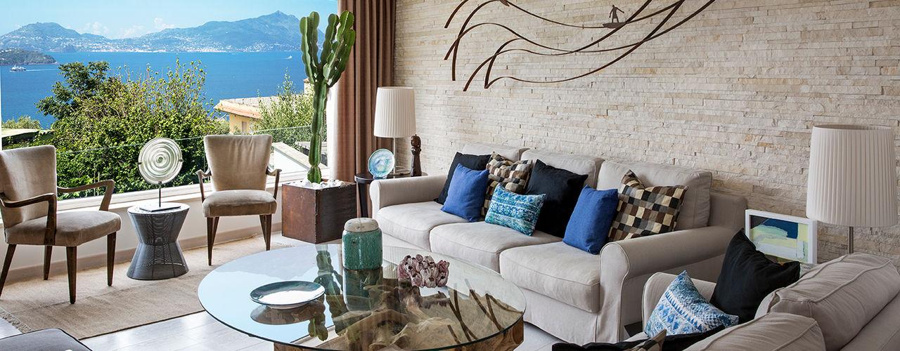 PDV studio di progettazione ห้องนั่งเล่นโซฟาและเก้าอี้นวม