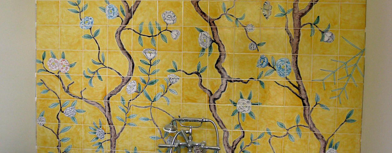Chinoiserie Reptile tiles & ceramics Asian style bathrooms