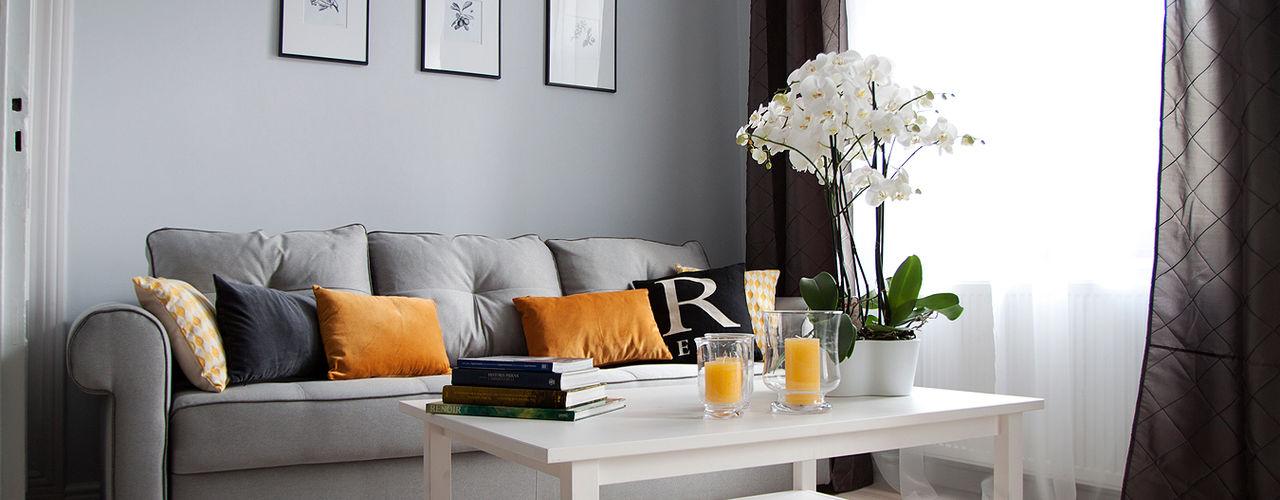 Grey shade interiors Ausgefallene Wohnzimmer