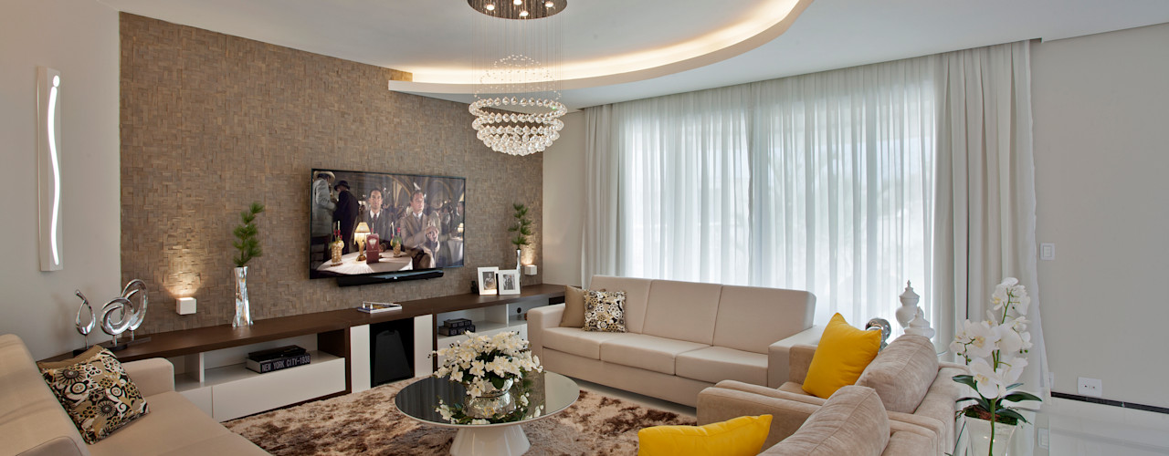 Designer de Interiores e Paisagista Iara Kílaris غرفة المعيشة