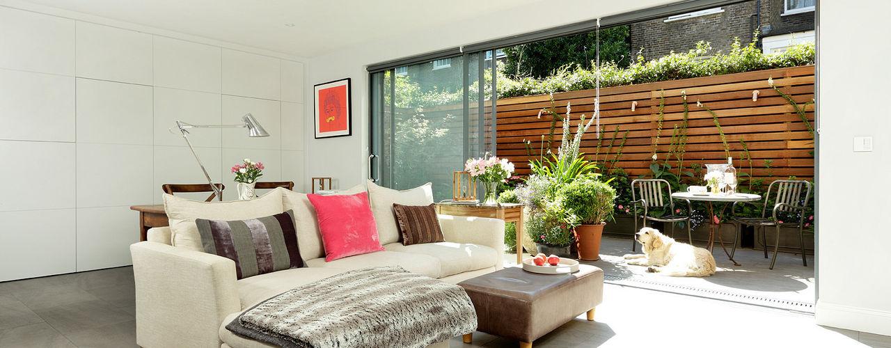 Open-Plan Kitchen/Living Room, Ladbroke Walk, London Cue & Co of London Modern Living Room