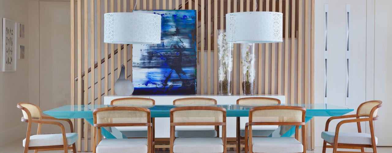 Arquitetura Residencial | Casa de luxo na Barra da Tijuca Leila Dionizios Arquitetura e Luminotécnica Salas de jantar modernas