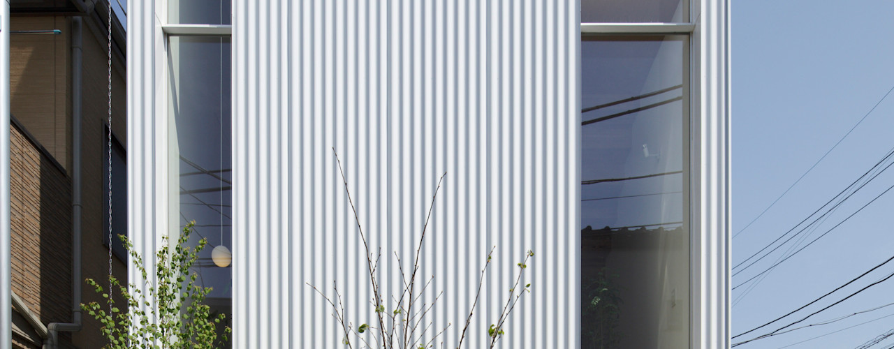 シナの木と白い家 高橋真紀建築設計事務所 オリジナルな 家