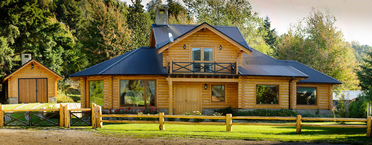 Patagonia Log Homes - Arquitectos - Neuquén Single family home Wood Wood effect