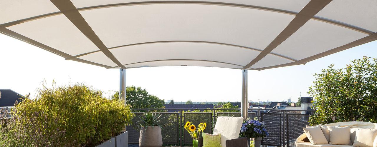 C4sun: Dreidimensionale Beschattungslösung für Dachterrassen C4sun Balkon, Veranda & TerrasseMöbel