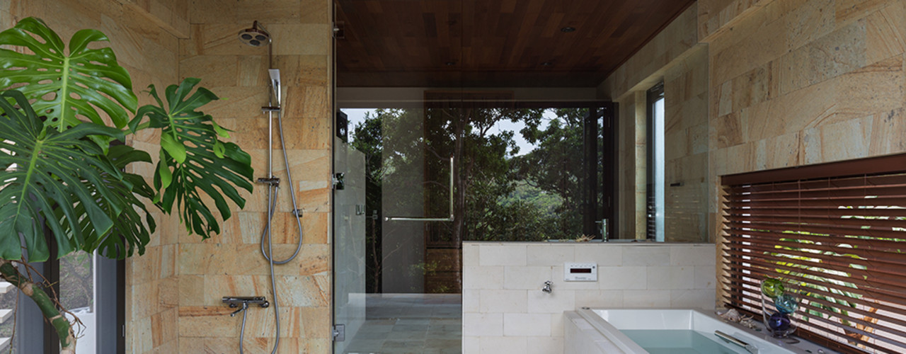 岡部義孝建築設計事務所 Modern Bathroom