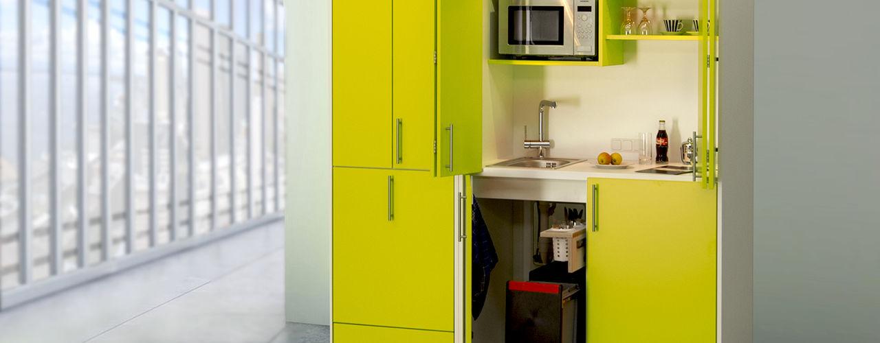 Miniküchen, Pantryküchen und Schrankküchen - alle Funktionen auf kleinstem Raum lemoboo AG Moderne Küchen