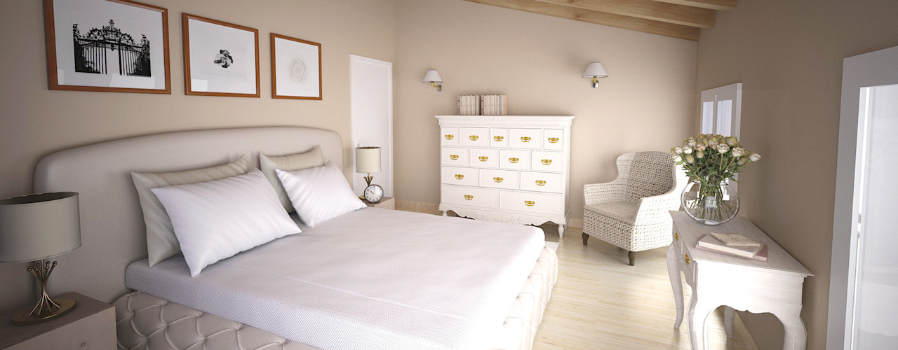 Laura Sardano Dormitorios de estilo rústico