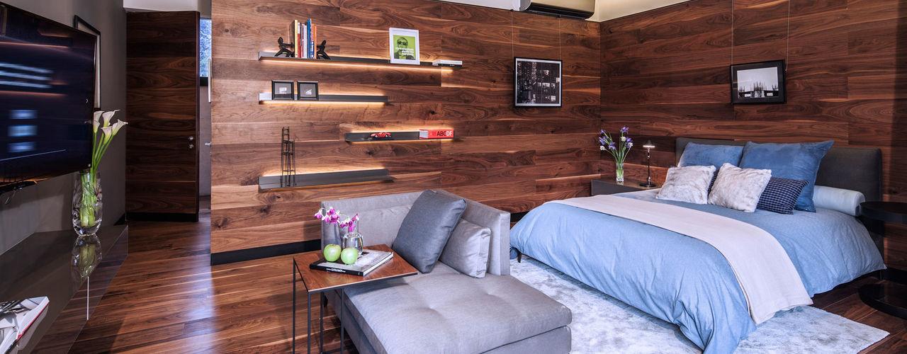 grupoarquitectura ミニマルスタイルの 寝室