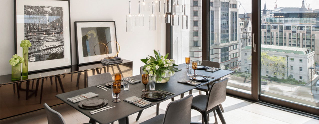 Roman House Penthouse The Manser Practice Architects + Designers Modern dining room
