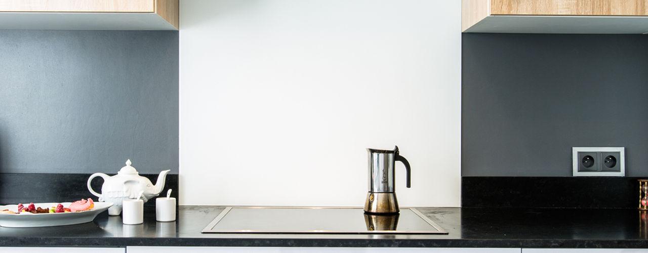 CUISINE TEISSA , MODELE MIRAGE BLANC NEIGE ET NATURA CHENE BORDOLINO CLAIR MJ Home Cuisine moderne