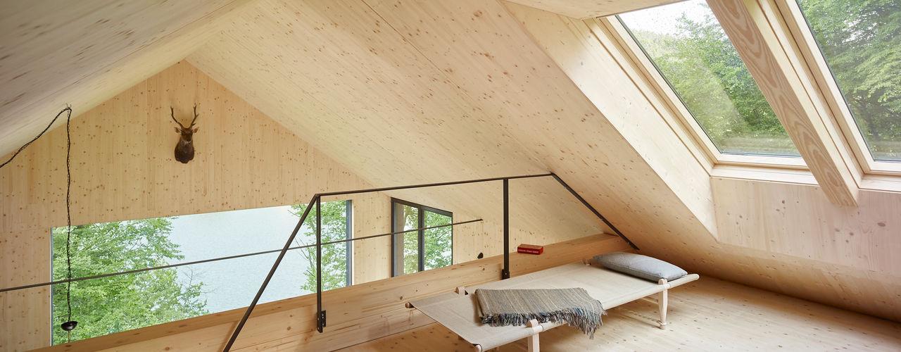 Haus am Thurnberger Stausee Backraum Architektur Moderne Wohnzimmer