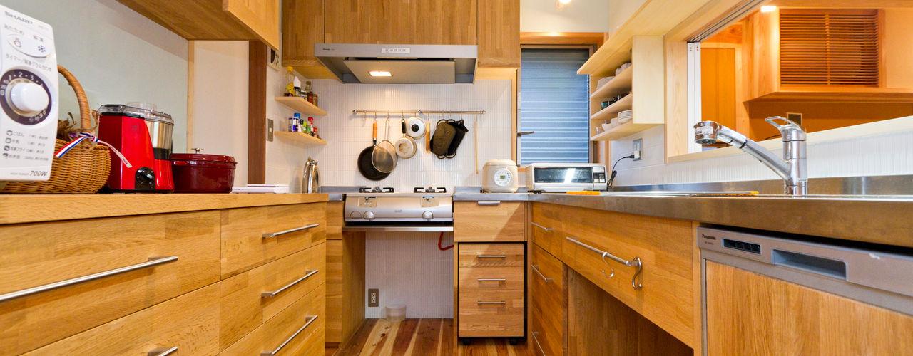 shu建築設計事務所 Modern Kitchen Wood Wood effect