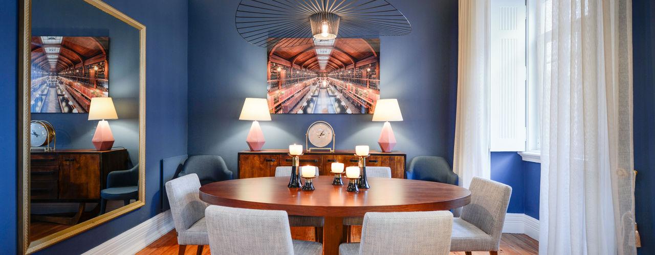 LAVRADIO DESIGN Moderne Esszimmer Blau