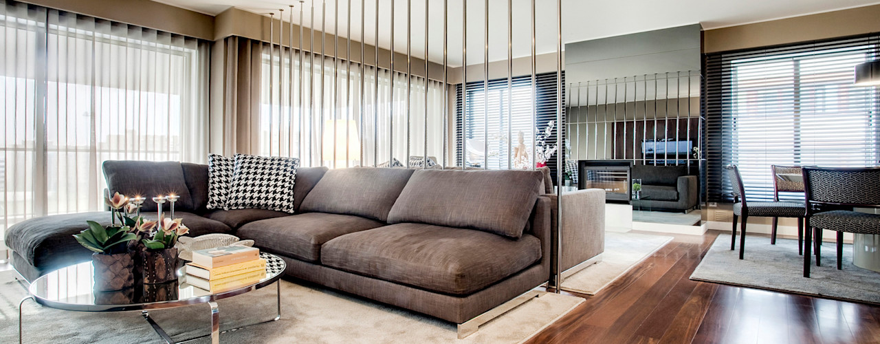 Jorge Cassio Dantas Lda 现代客厅設計點子、靈感 & 圖片