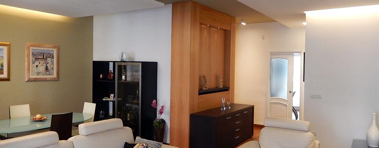 Nicola Sacco Architetto 现代客厅設計點子、靈感 & 圖片 木頭