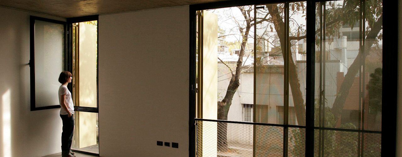 IR arquitectura Modern Dining Room Glass Transparent