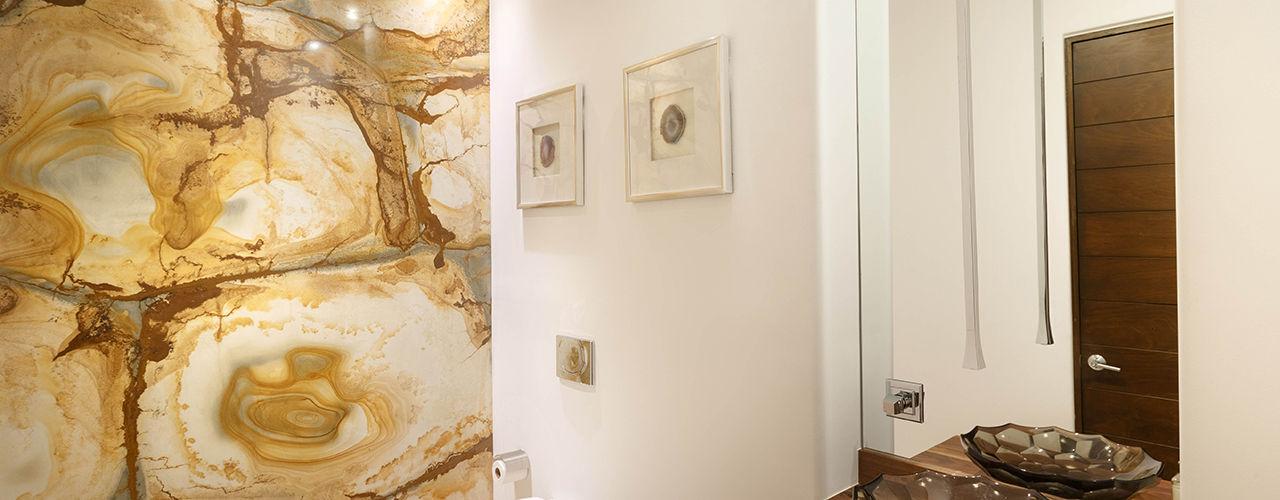 Imativa Arquitectos حمام رخام Amber/Gold